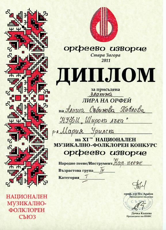 Алиша Павлова - Орфеево Изворче 2011