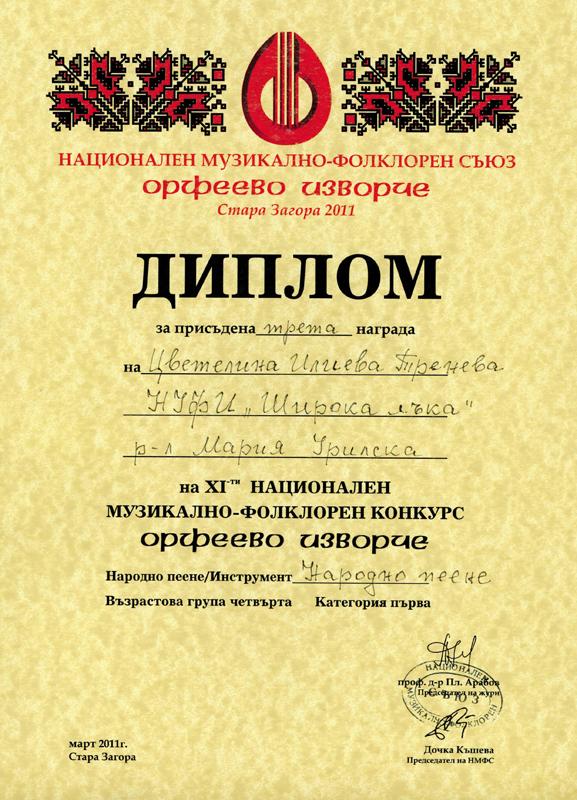 Цветелина Тренева - Орфеево Изворче 2012