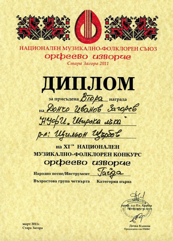 Дончо Загорев - Орфеево Изворче 2011