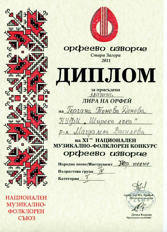 Гергана Донова - Орфеево Изворче 2011