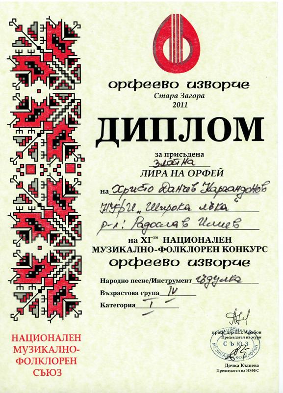 Христо Караандонов- Орфеево Изворче 2011
