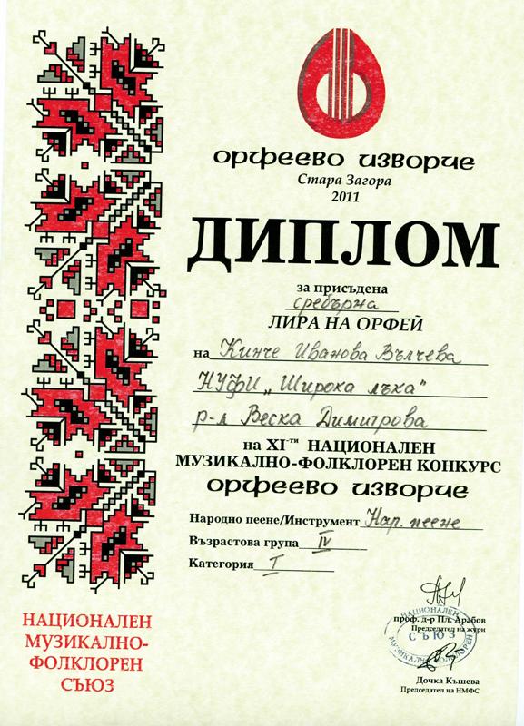 Кинче Вълчева - Орфеево Изворче 2011