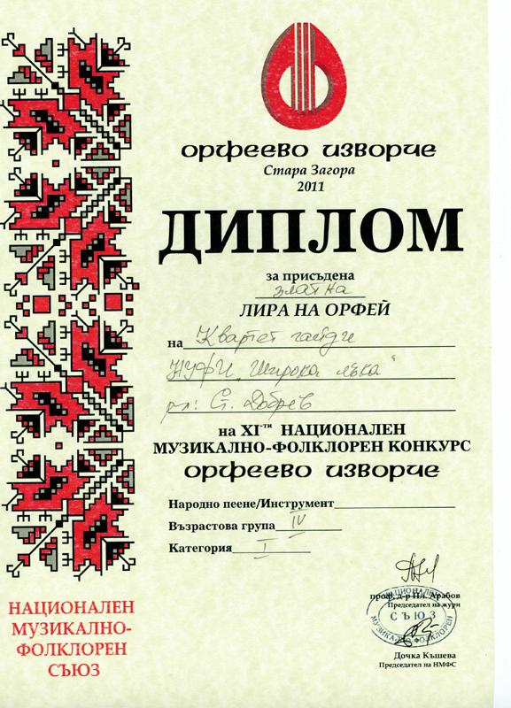 Квартет Гайди - Орфеево Изворче 2011