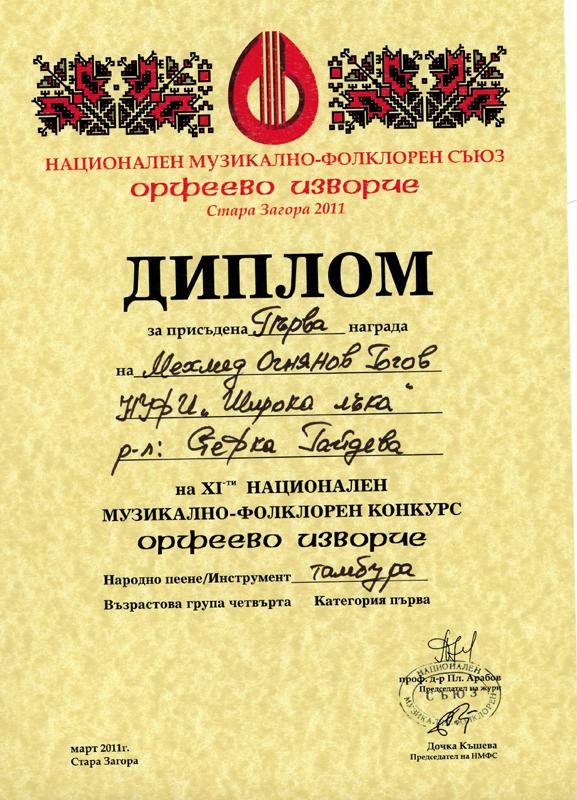 Мехмед Гогов - Орфеево Изворче 2011