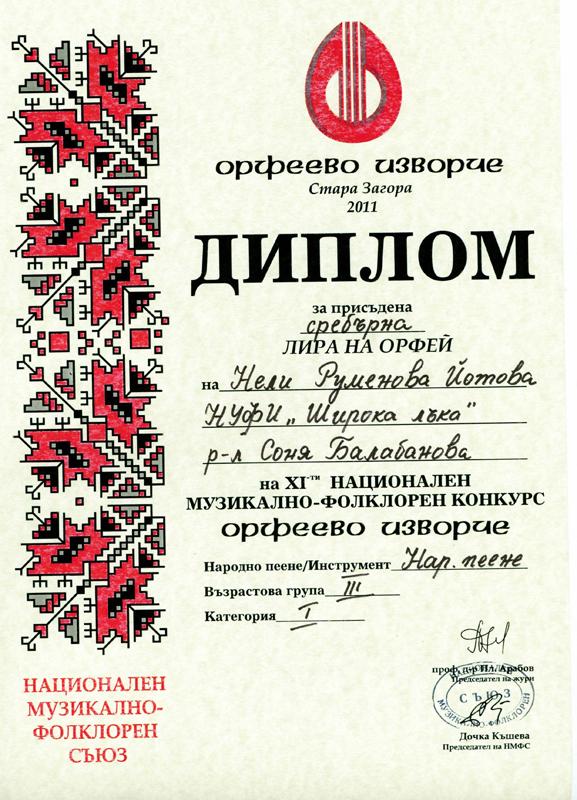 Нели Йотова - Орфеево Изворче 2011