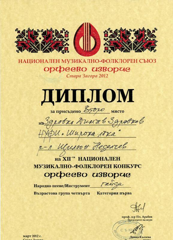 Здравко Здравков - Орфеево Изворче 2012