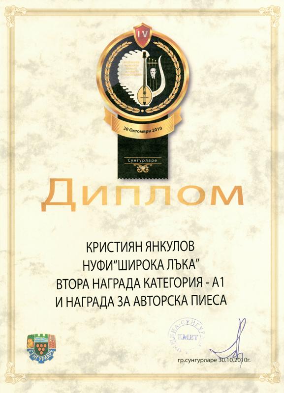 Кристиян Янкулов - Фолклорен Конкурс за Тамбура 2010